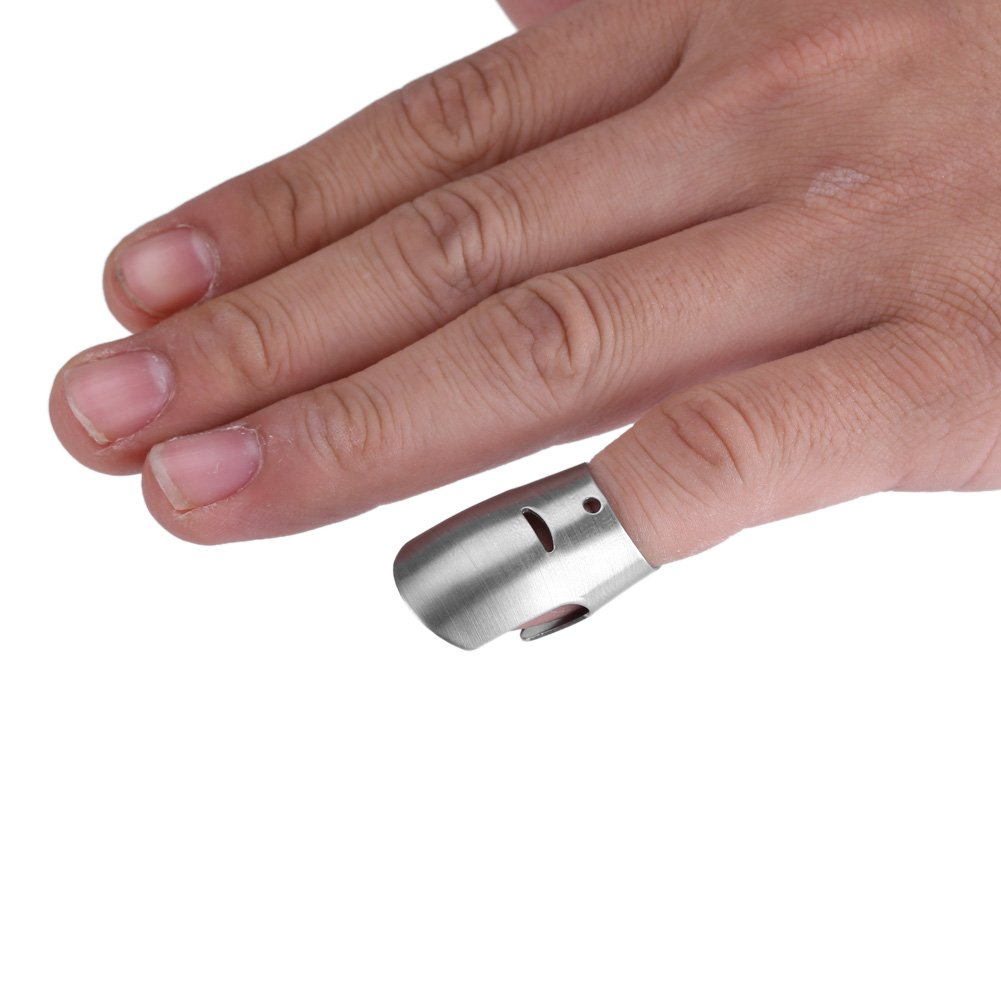 Finger Guard Chopping Hand Protector Knife Safe Shield Kitchen Cooking Gadget Stainless Steel (S) by Zerone (Image #5)