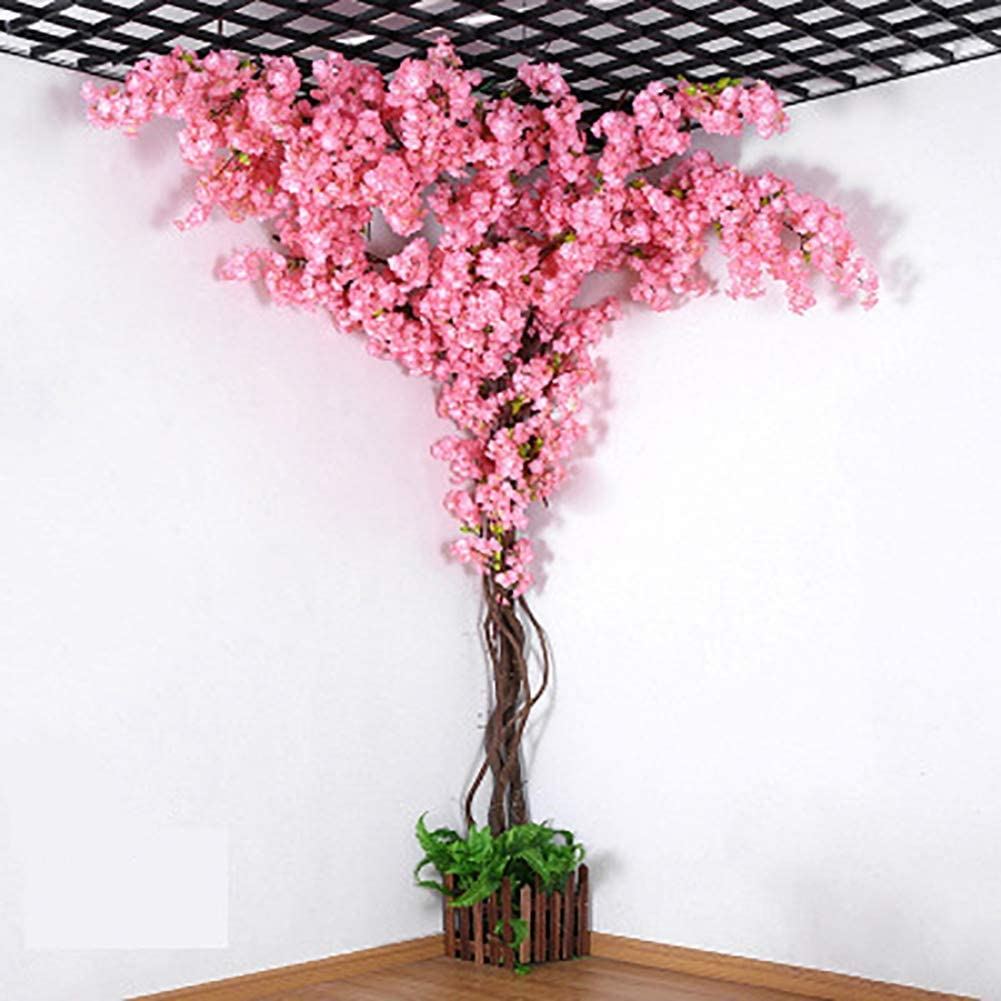 Amazon Com Xnnsh Artificial Cherry Tree Fake Tree Indoor Large Living Room Artificial Peach Tree Wedding Floor Decoration Green Plant 10ft 3m Home Kitchen