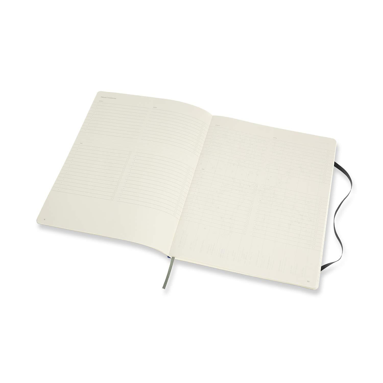 Moleskine Pro Notebook 192 Pagine Taccuino Professionale da Ufficio Formato X-Large Copertina Morbida e Chiusura ad Elastico Colore Nero