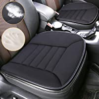 Car Seat Cushion Pad Sciatica Pillow for Sitting Memory Foam Seat Cushion Comfort Seat Protector with Non Slip Bottom for Car Driver Seat Office Chair Home Use (Black)