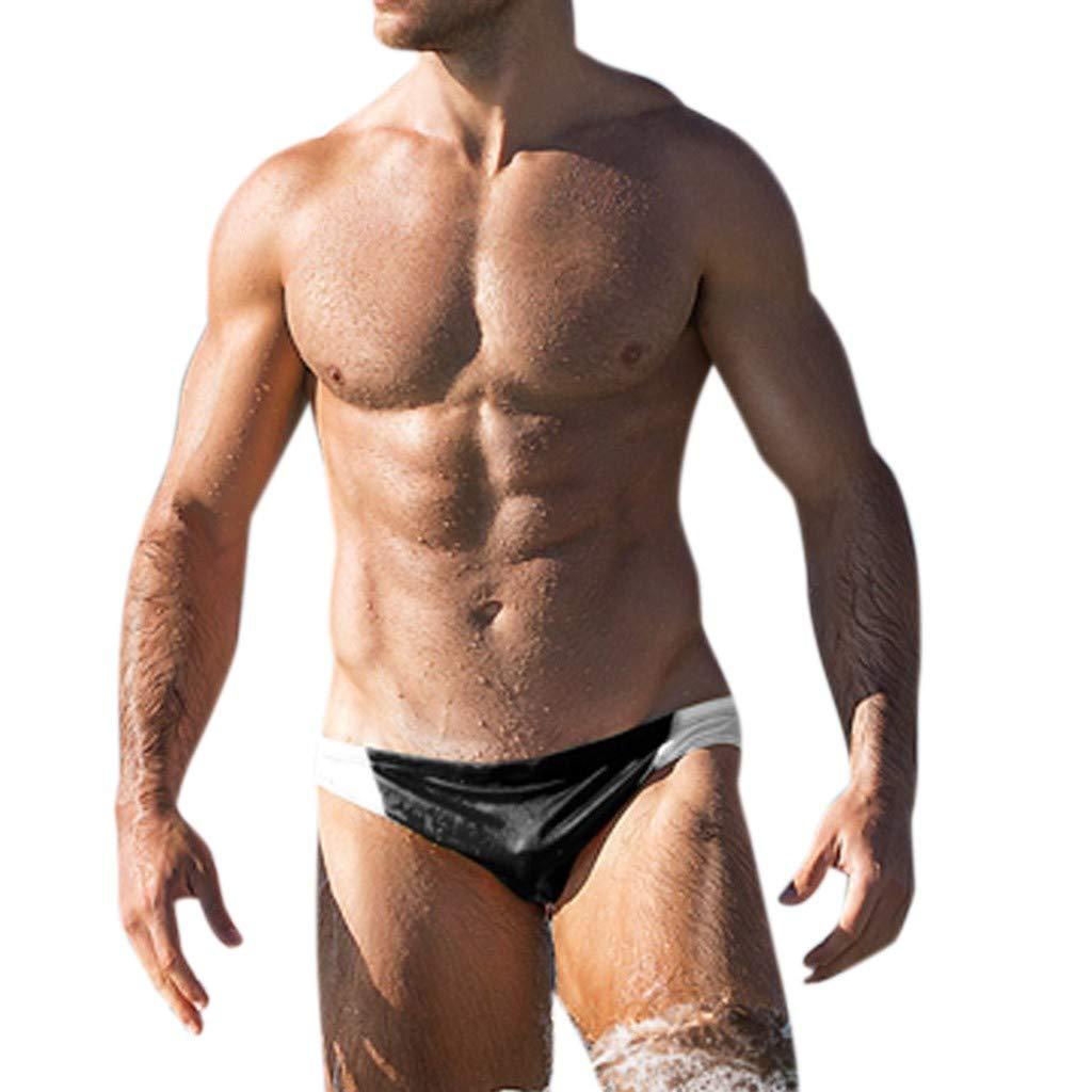 Topgrowth Costumi Da Bagno Uomo Slip con Coulisse per Nuoto Spiaggia Mare Piscina Sport Pantaloncini Quick Dry Calzoncini Pantaloncini a Righe Uomo Swimwear
