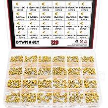 DYWISHKEY 24Value 720PCS DIP Monolithic Multilayer Ceramic Chip Capacitors Assortment Kit, 0.1uF-100nF Ceramic Capacitor Set