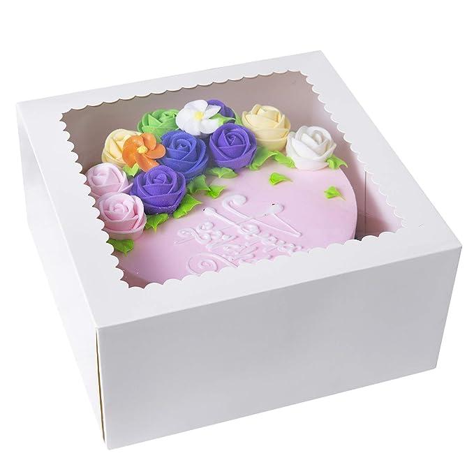 cuadradas de 25,4 cm Paquete de 10 254 mm Cajas para tartas de color blanco