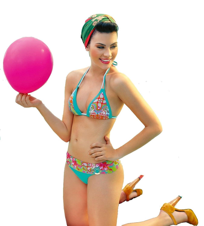 ELLIPSE - Secret Garden - Triangel Bikini 2-teilig (M, mehrfarbig)
