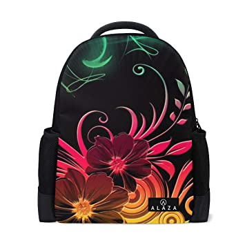 e72a684a621d Amazon.com: Backpack Hippie Flower Best Mens Laptop Backpacks Hiking ...