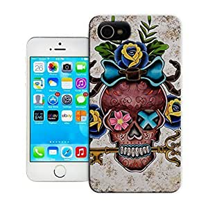 Unique Phone Case Skeleton skull head arts map Sugar Skull Roses Tattoo Art Print Hard Cover for 4.7 inches iPhone 6 cases-buythecase