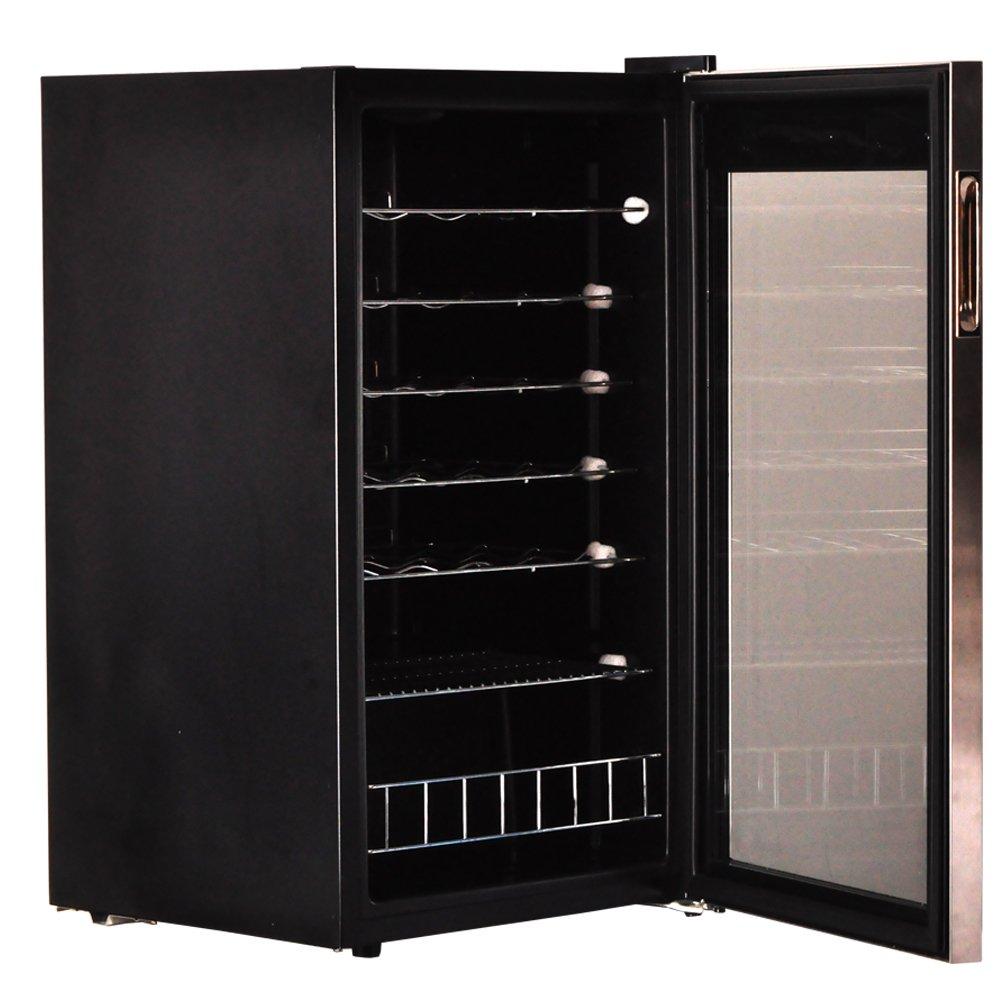 Smad Compressor Wine Cooler Refrigerator Wine Cellar Chiller Single Zone 35 Bottles