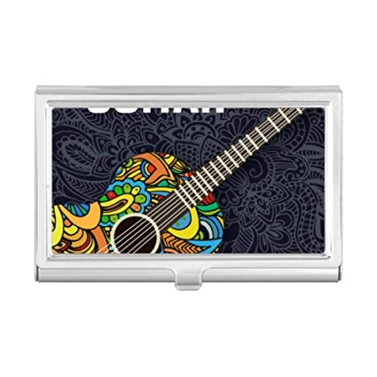 Funda para tarjeta de visita, diseño de guitarra musical ...