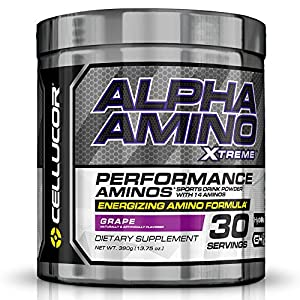 Cellucor Alpha Xtreme Acids and BCAA Powder Amino and Energy Blend, Grape, 30 Count