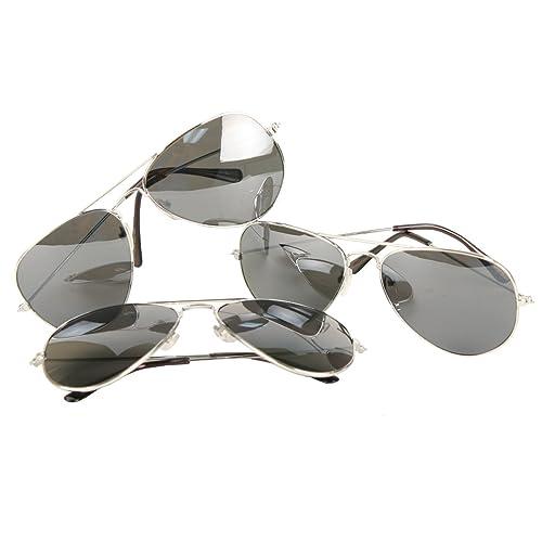 b452440ccce Amazon.com  UB Classic Aviator Sunglasses 3-Packs  Reflective Lenses ...
