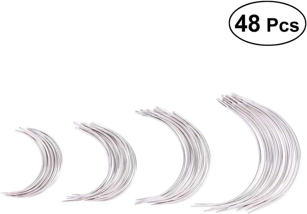 SUPVOX 48 Piezas Agujas Curvas Agujas de Coser a Mano Tipo C ...