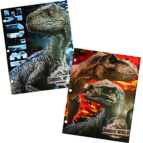 Jurassic World Two Pocket Portfolio Folders - Set of 2 by Tri-Coastal
