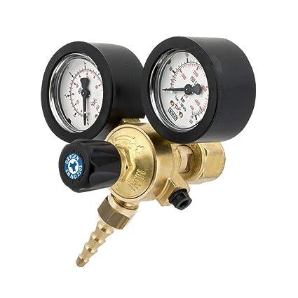 Reductor de presión oxígeno presión bombona hasta 300 Bares y presión de salida 4 Bar con