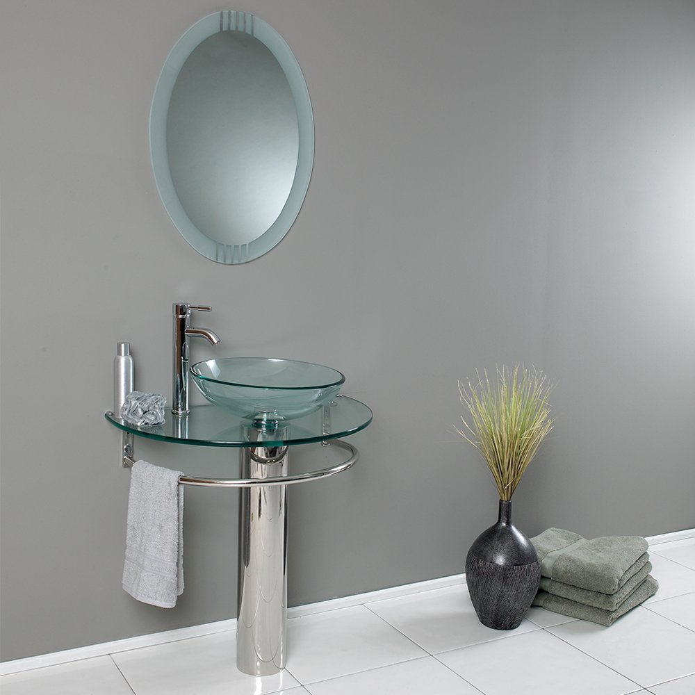fresca bath fvn1060 attrazione vanity with frosted edge mirror amazoncom
