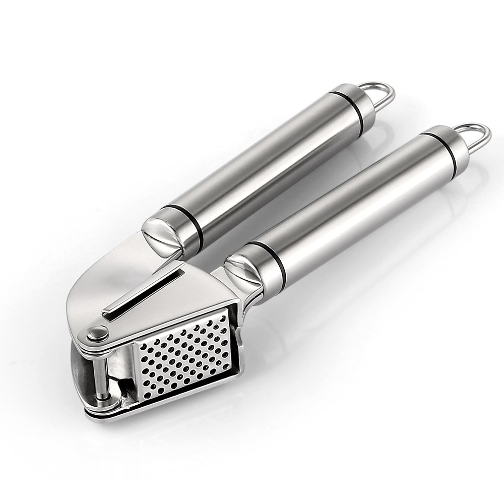 Zanmini Stainless Steel Ginger Squeezer, Anti-slip Handle Labor-Saving for Home Chef Silver 227068301