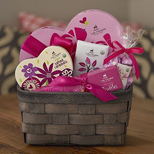 Lake Champlain Chocolates Be Mine Valentine's Day Chocolate Gift Basket, 1.6 Pounds made in Vermont