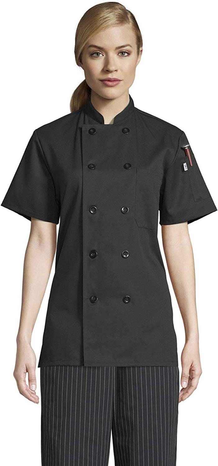 Uncommon Threads Tahoe Short Sleeve Chef Coat Jackets for Women