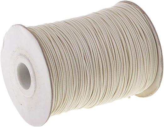 HarmonyHappy Cordón de algodón Encerado 170 m 1 mm Borde para Joyas DIY Hacer Suministros macramé - Beige, como se Describe: Amazon.es: Hogar