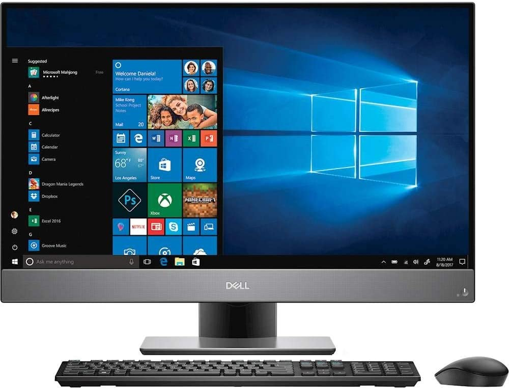 "Dell Inspiron 27 Desktop 2TB SSD 32GB RAM Extreme (Intel Core i7-8700K Processor 3.70GHz Turbo to 4.70GHz, 32 GB RAM, 2 TB SSD, 27"" FullHD IPS, Win 10) PC Computer All-in-One"