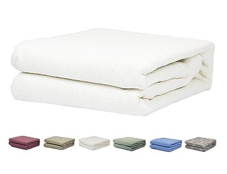 Amazoncom TwinFull Size 100 Cotton Thermal Blanket White