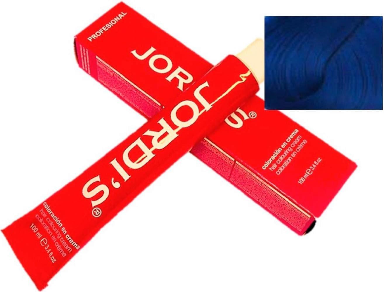 Matizador de mechas Profesionales color intenso y brillante - M6 - AZUL - Coloración en crema 100ml.