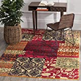 Cheap Safavieh Monaco Collection MNC211F Modern Bohemian Colorful Patchwork Multi Distressed Area Rug (4′ x 5'7″)