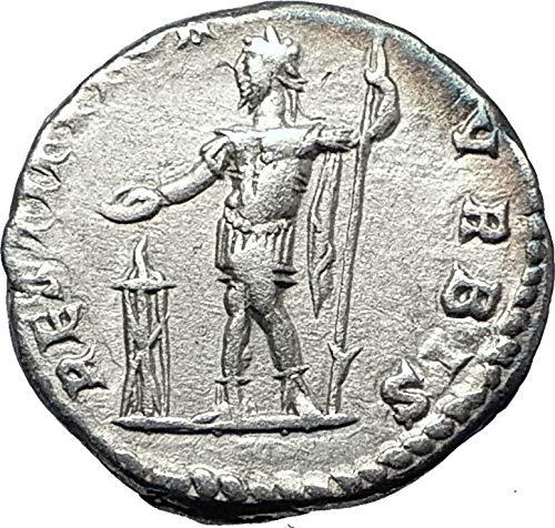 200 IT SEPTIMIUS SEVERUS sacrificing over altar 200AD An coin ()