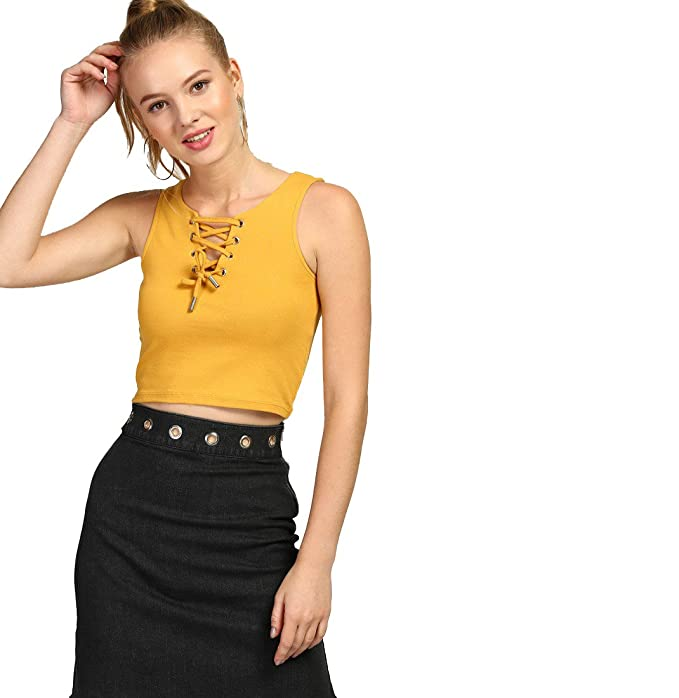 bf232937e6440 Era Style Yellow Cotton Lycra Hojry with Ilat style Crop Top For  Womens Girls  Amazon.in  Clothing   Accessories