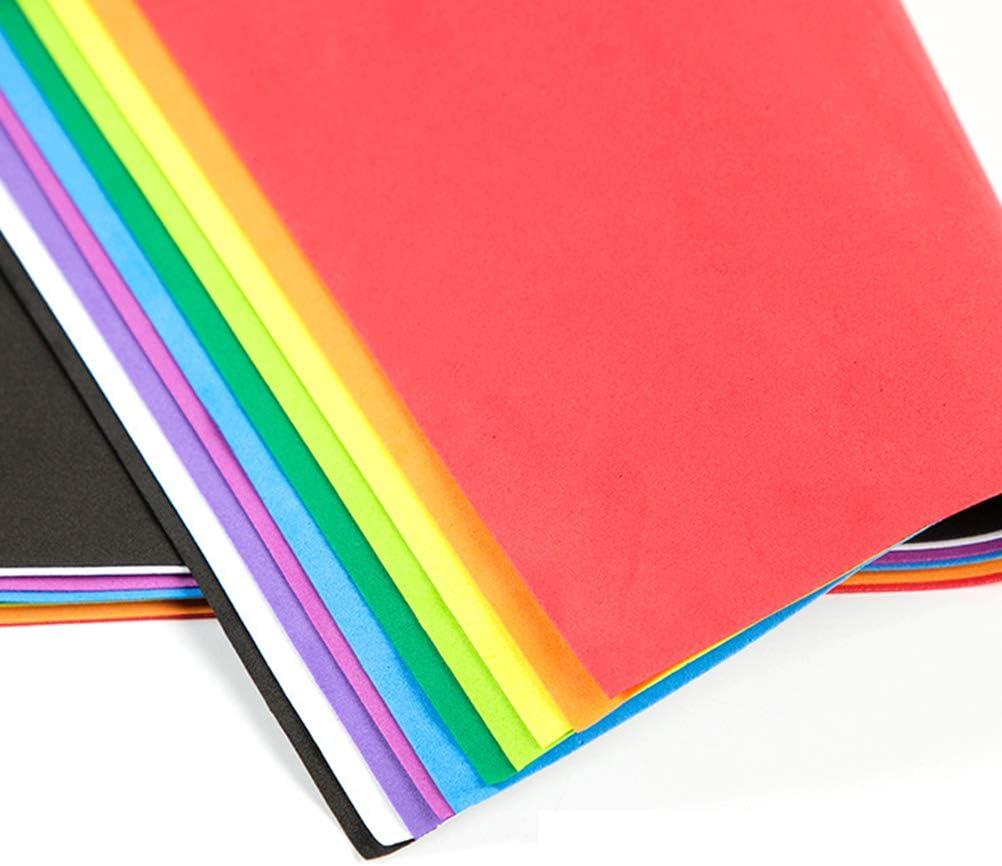 Milisten 10 pz Fogli di Schiuma Eva foamie Fogli di Carta Colorata Spugna Artigianale Schiuma per Fai da Te Scrapbooking Arte Aula Forniture per Feste Formato a4