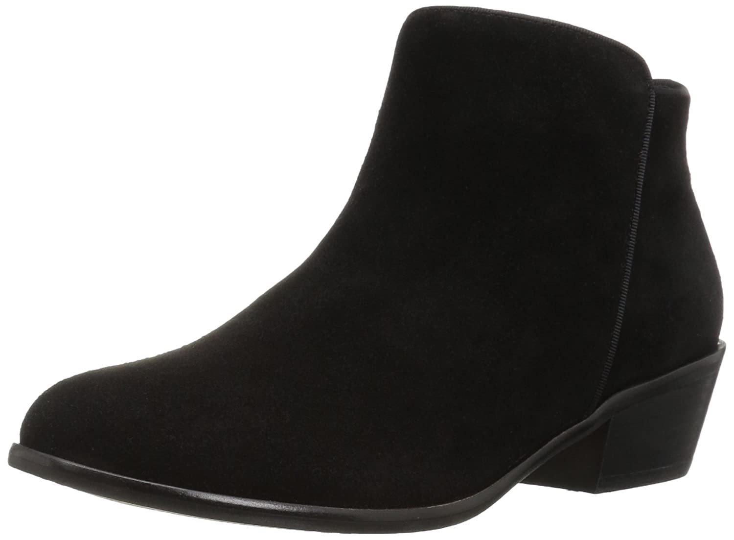 206 Collective Women's Magnolia Low Heel Ankle Bootie B01MZGNYP4 5 B(M) US|Black Suede