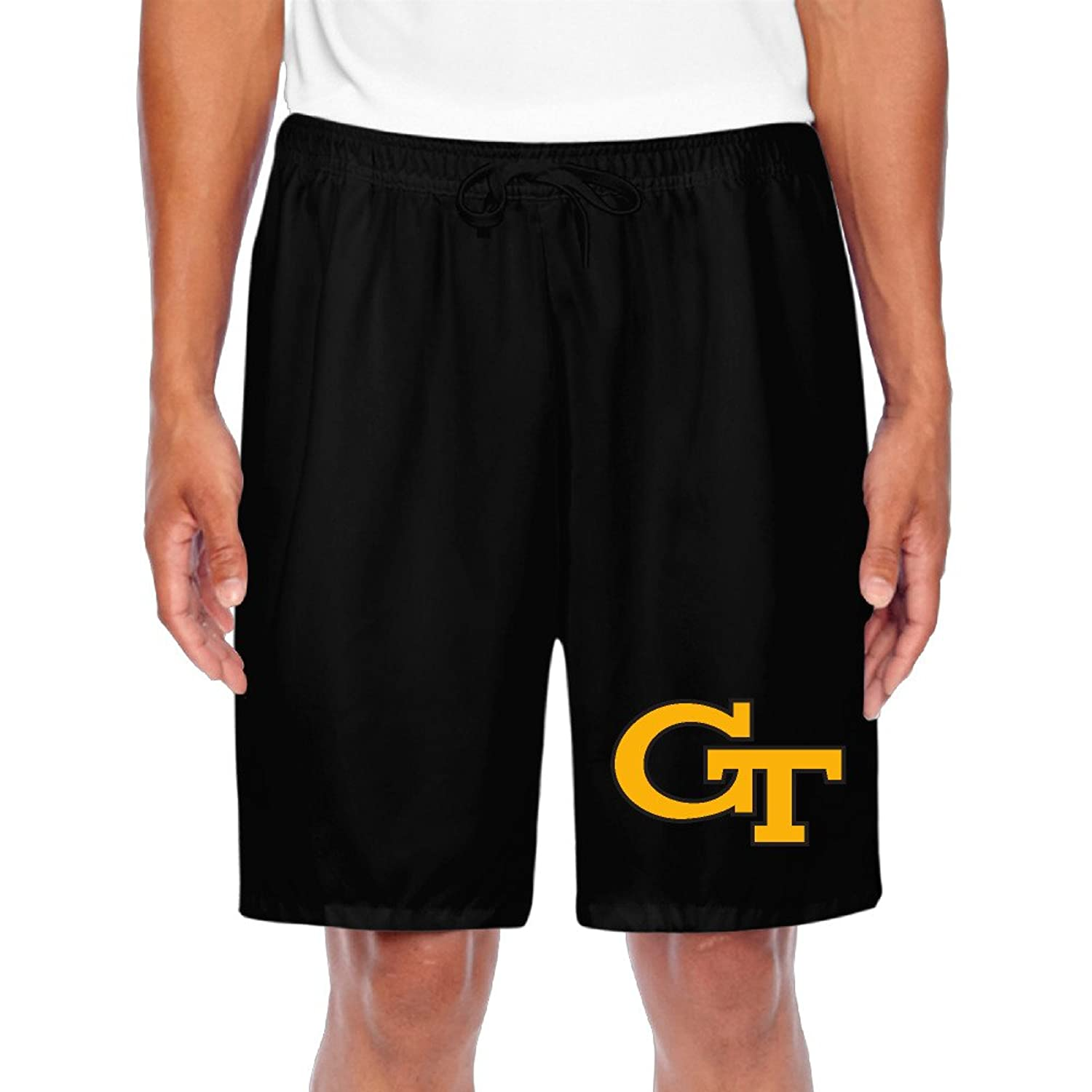 BOOMY Men's Georgia Tech Shorts Workout Pants Black
