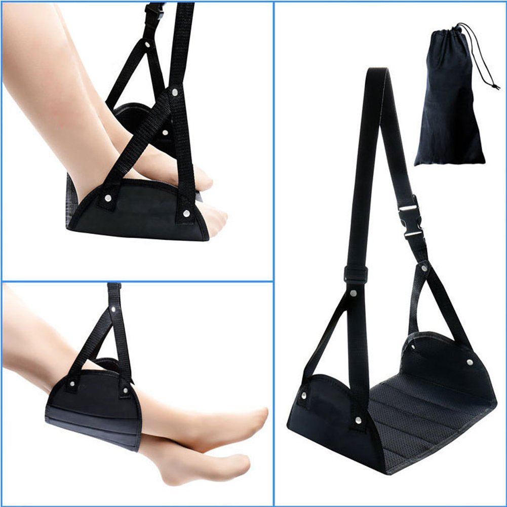 Foot Rest Airplane,Portable Travel Footrests Office Rest Adjustable Height Travel Footrest Hammock