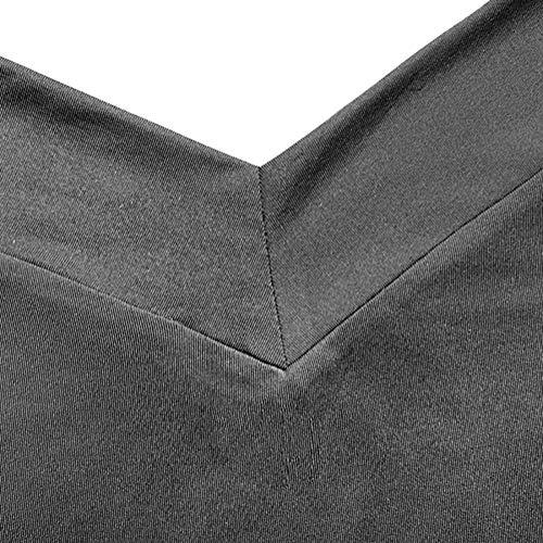 Tops Spalline Autunno Lunga Senza Scollo V Grigio Shirt Minetom Donne T Maglietta Sexy Tinta Unita Casuale Manica Blusa Camicetta A Elegante UnwTH8xqT5