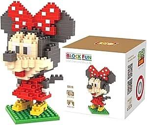 Loz 9414. Kit de construccion miniaturizada. Minnie Mouse. 280 piezas: Amazon.es: Juguetes y juegos