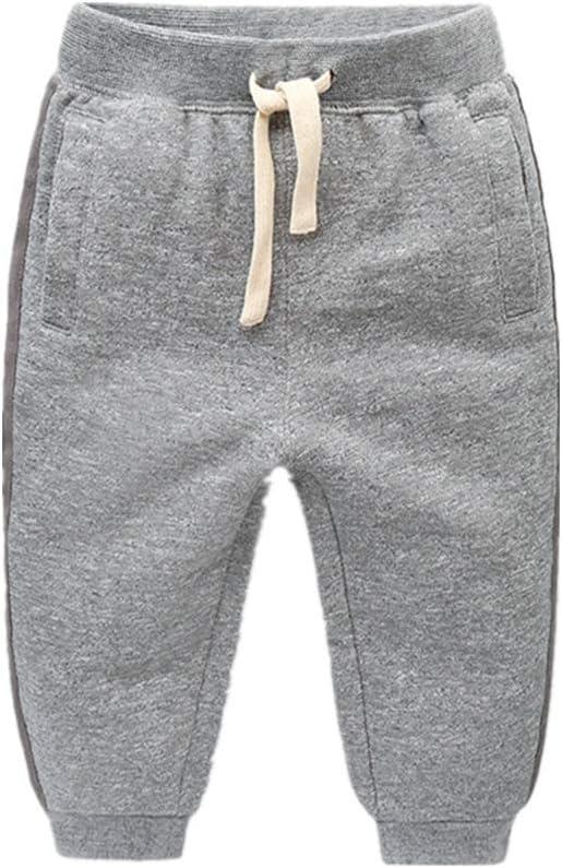 Pantalones de chándal de algodón para niños Pantalones de chándal de Cintura Ajustable Pantalones (Color : Gris, tamaño : 110): Amazon.es: Hogar