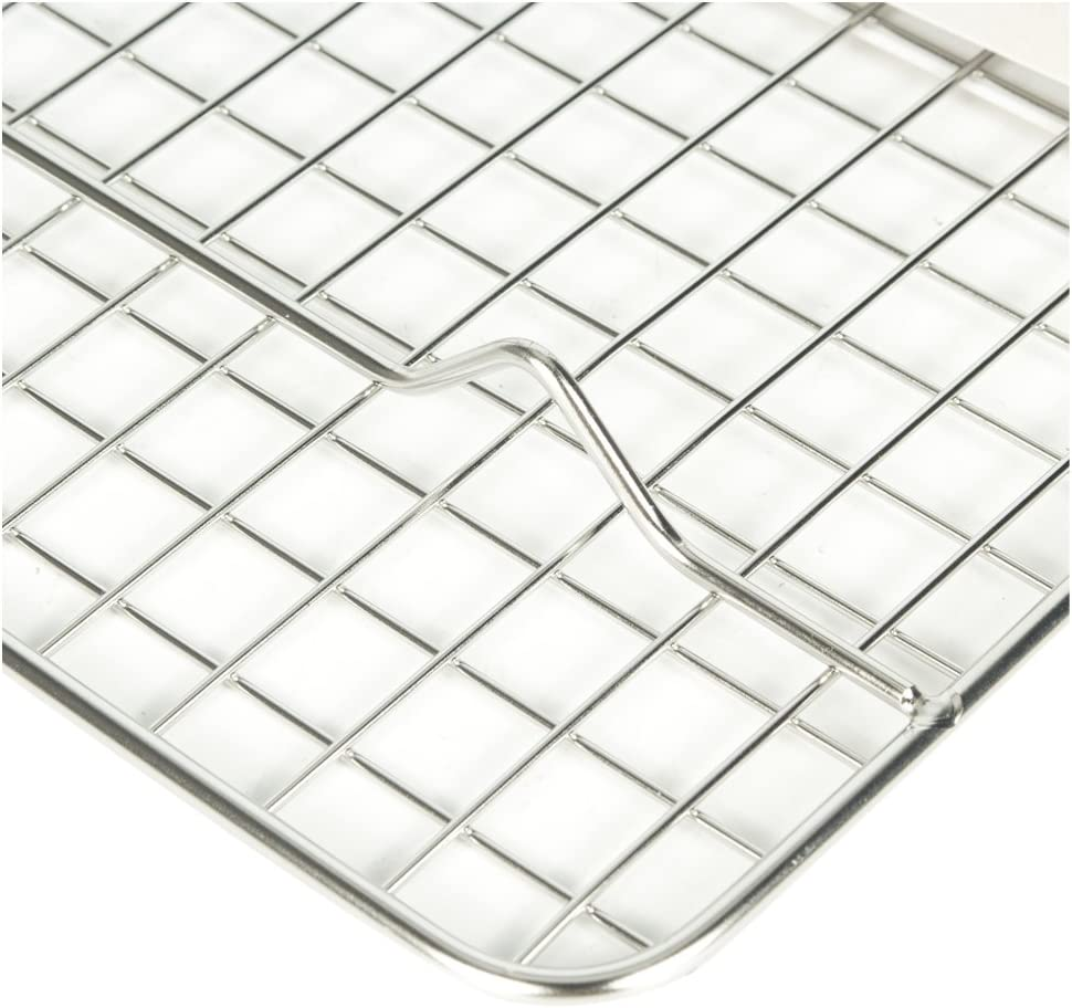 LHFLIVE Stainless Steel Cooling Rack For Baking Oven and Dishwasher Safe,10 x 15 inches Fits Jelly Roll Pan