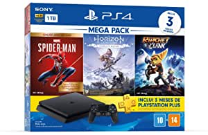Console PlayStation 4 Mega Pack 15 - Spider-Man: Goty Edition, Horizon Zero Dawn: Complete Edition e Ratchet & Clank