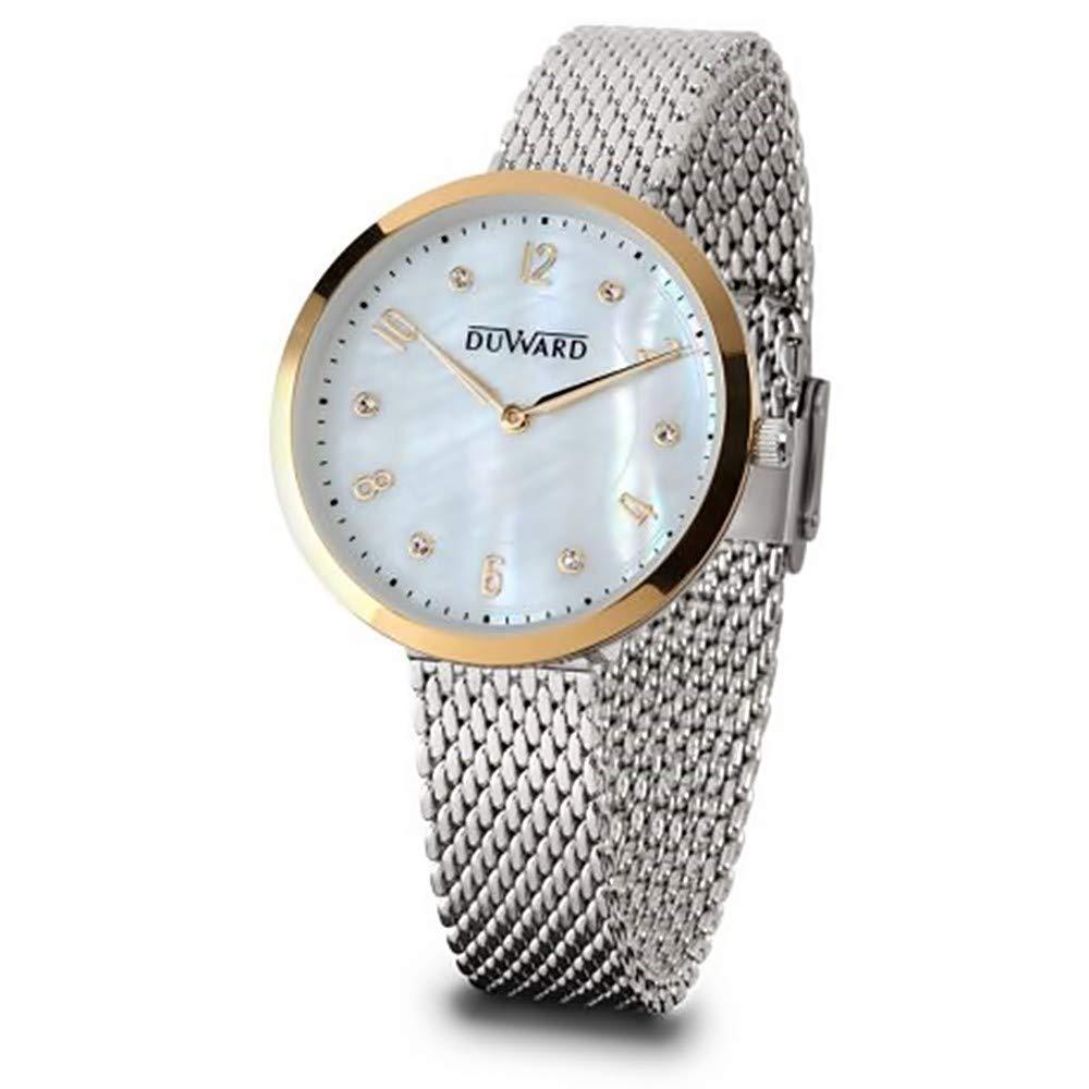 DUWARD Reloj para Mujer Analógico Cuarzo japonés con Correa de Acero Inoxidable D25110.31: Amazon.es: Relojes