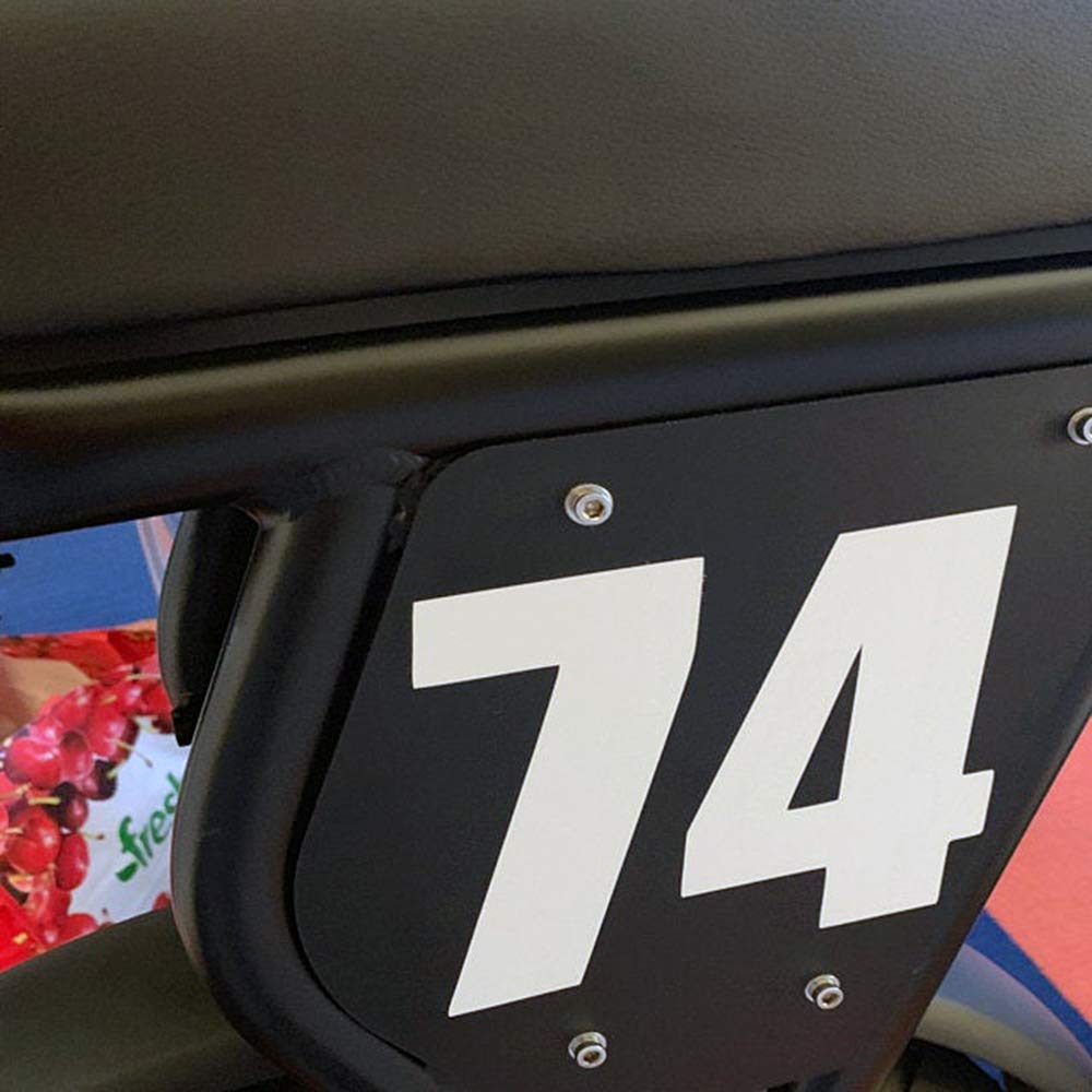 Racing Numbers Vinyl Decal Sticker 0498 Plate Numbers Style 2