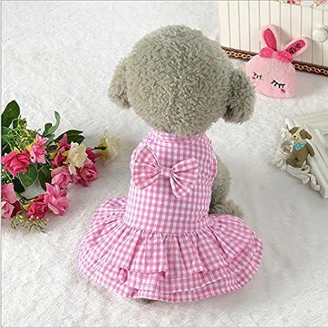 shopantic (TM) verano vestidos de perro gato vestido de princesa de cachorro Teddy, prendas de vestir ropa pequeño perro vestido Faldas para disfraz de ...