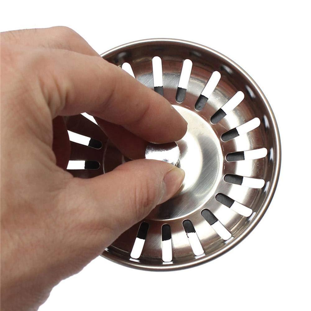 zhichu985 Tap/ón del colador del Fregadero de la Cocina 2 PCS Tap/ón del colador de la Canasta de desag/üe de la Cocina del Acero Inoxidable Grueso Grueso 79mm