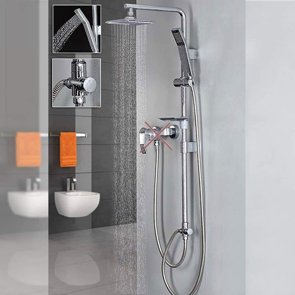 Design Set de Douche Douche de t/ête Douchette Effet Barre Douche /à pluie Chrome