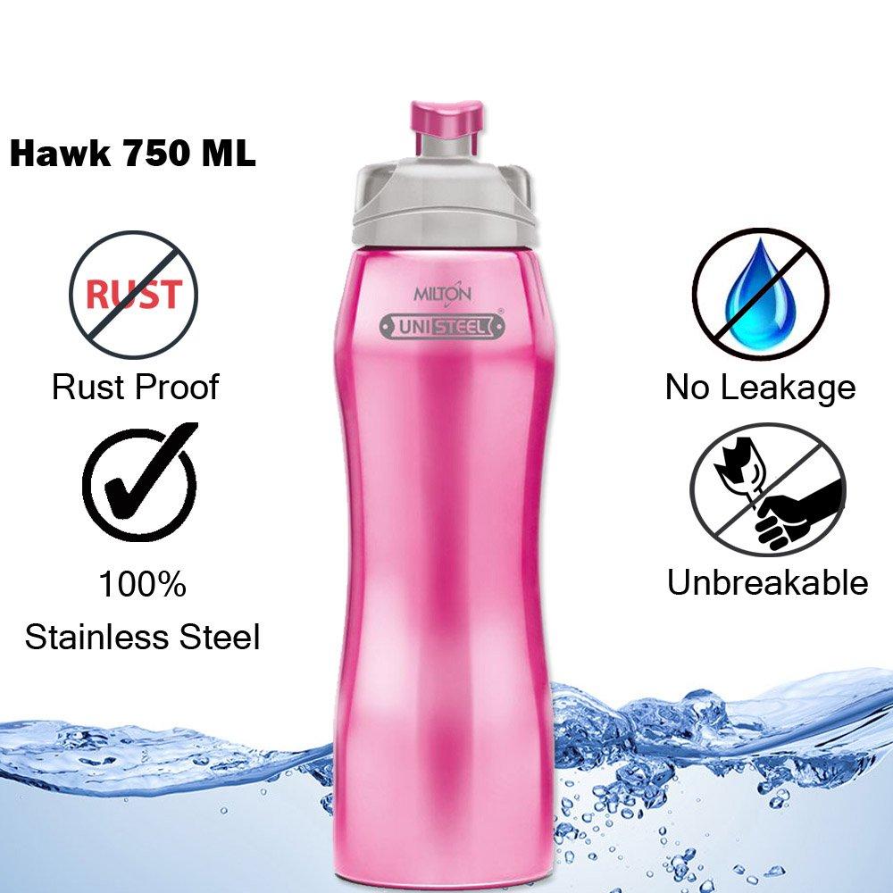 Milton Hawk Stainless Steel Water Bottle, 750ml, Pink