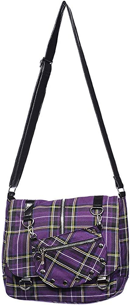 Banned Tartan Messenger Bag