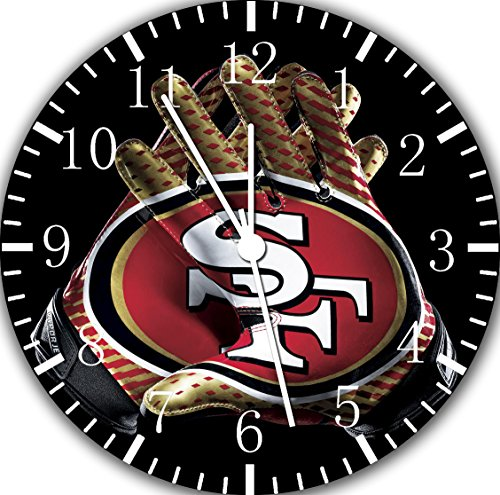 49ers Frameless Borderless Wall Clock F126 Nice For Gift or Room Wall Decor by Frameless Clock