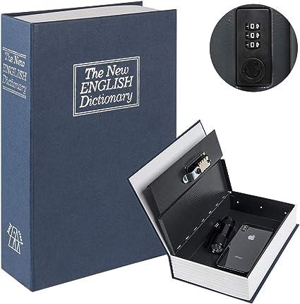 Caja de seguridad para libros de diversiones con cerradura de ...