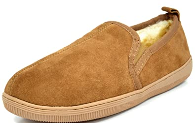 DREAM PAIRS Warm Men/'s Fur-Loafer-02 Suede Casual Soft  Loafers Winter Slippers