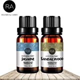 Jasmine Sandalwood Essential Oil Set Now Aromatherapy 100% Pure Therapeutic Grade Oils, 2/10ml - Pack of 2