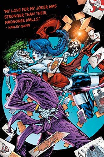amazon com batman dc comics poster print harley quinn the