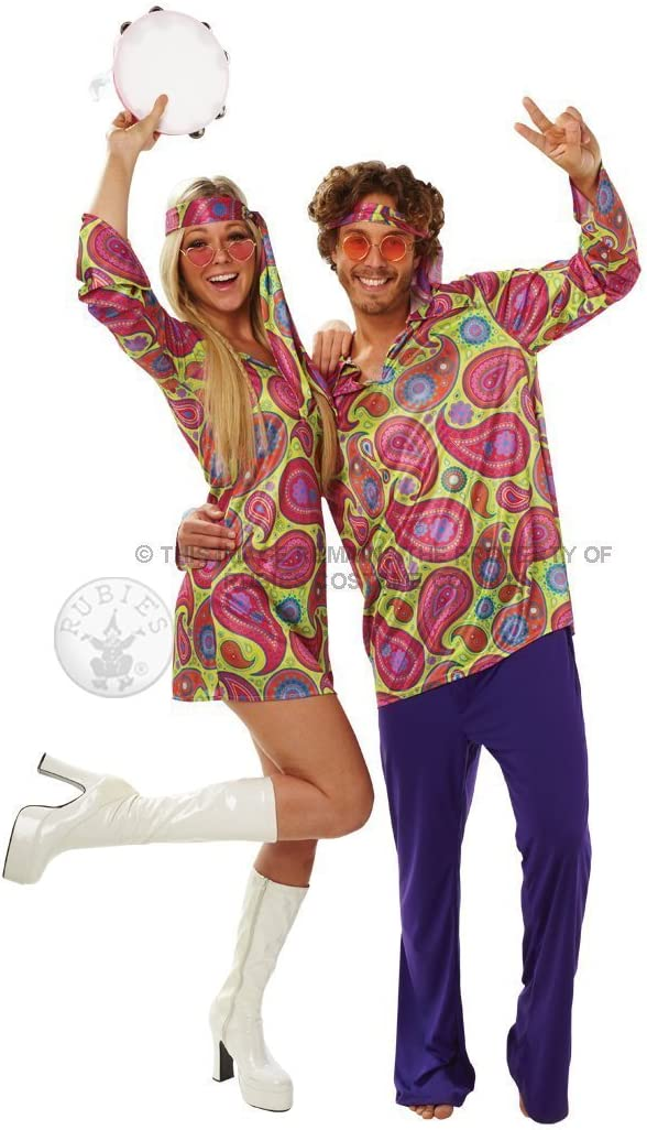 Rubiess – Disfraz Chica Hippy años 70, Adultos, Talla L: Amazon ...